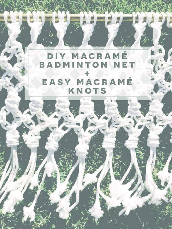 The Design Confidential DIY Macrame Badminton Net