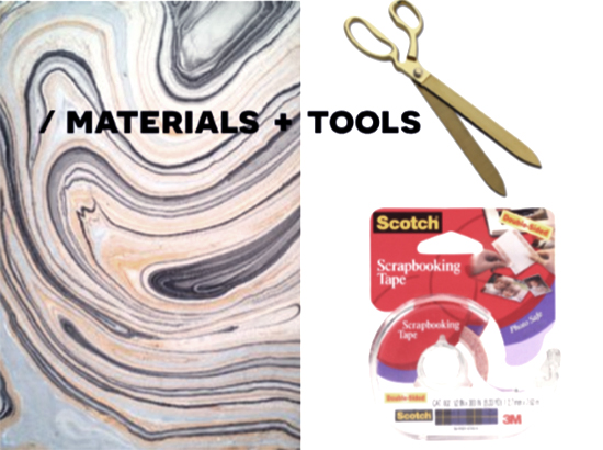 Materials and Tools for DIY Home Decor // How To Make Your Own Removable Wallpaper