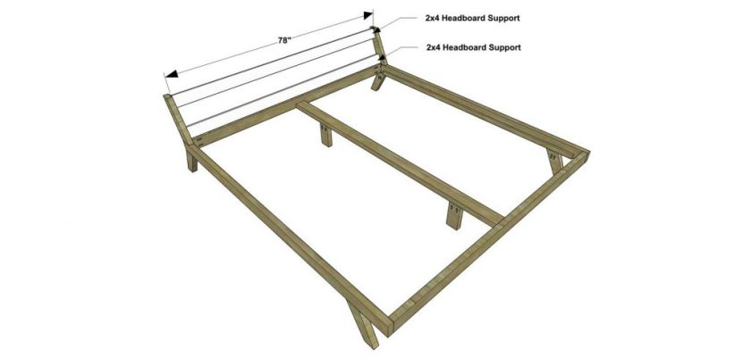The Design Confidential Free DIY Furniture Plans How to Build a King Sized Mellow Bed