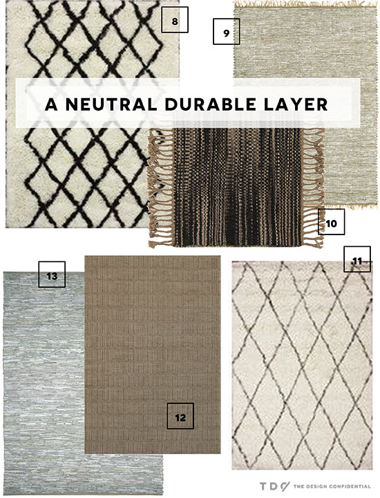 More Options for A Neutral Durable Rug Layer