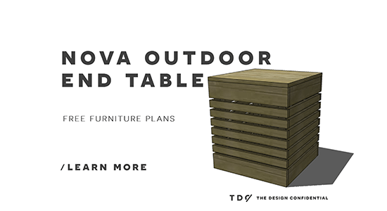 Free DIY Furniture Plans: How To Build A Nova Outdoor End Table   The  Design Confidential