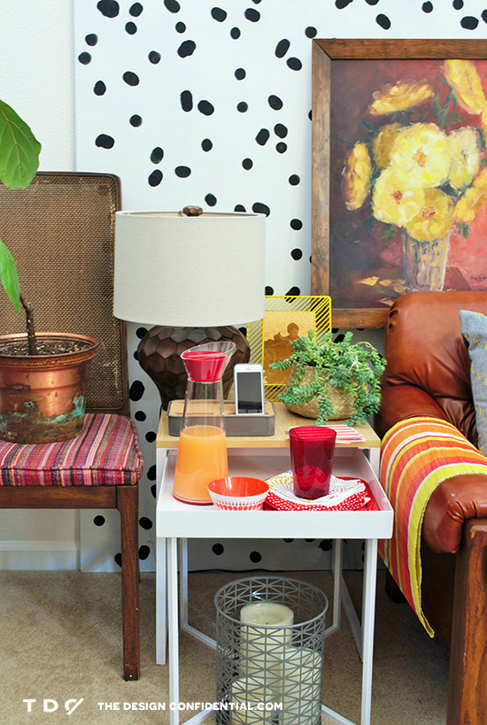 Red Orange Yellow Retro Happy chic Space for Nesting // One Piece with Three Different Style Personalities