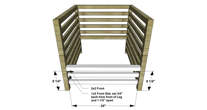 You Can Build This! Easy DIY Plans from The Design Confidential Free DIY Furniture Plans // How to Build an Outdoor Slatted Arm Chair via @thedesconf