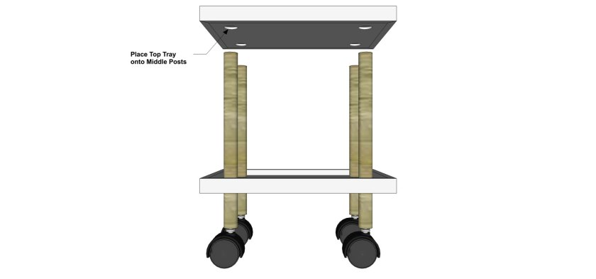 You Can Build This! Easy DIY Furniture Plans from The Design Confidential with Complete Instructions on How to Build a Peggy Rolling Cart Table via @thedesconf