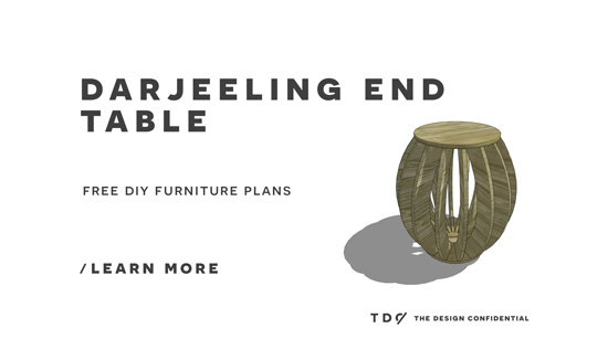 Free DIY Furniture Plans // How to Build a Darjeeling End Table