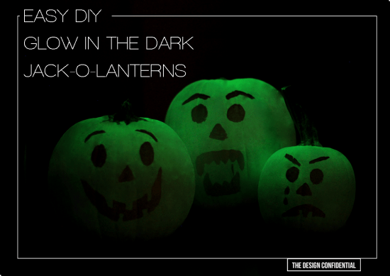 Easy Halloween DIY No Carve Glow In The Dark Pumpkins