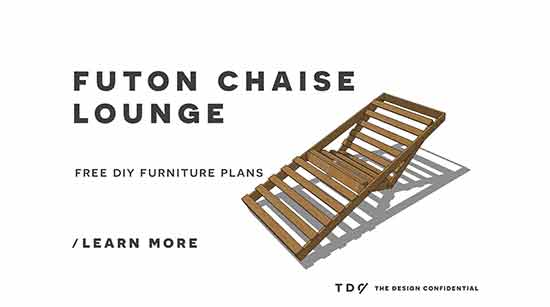 Free DIY Furniture Plans // How to Build an Indoor Outdoor Single Futon Chaise Lounge  sc 1 st  The Design Confidential : build a chaise lounge - Sectionals, Sofas & Couches