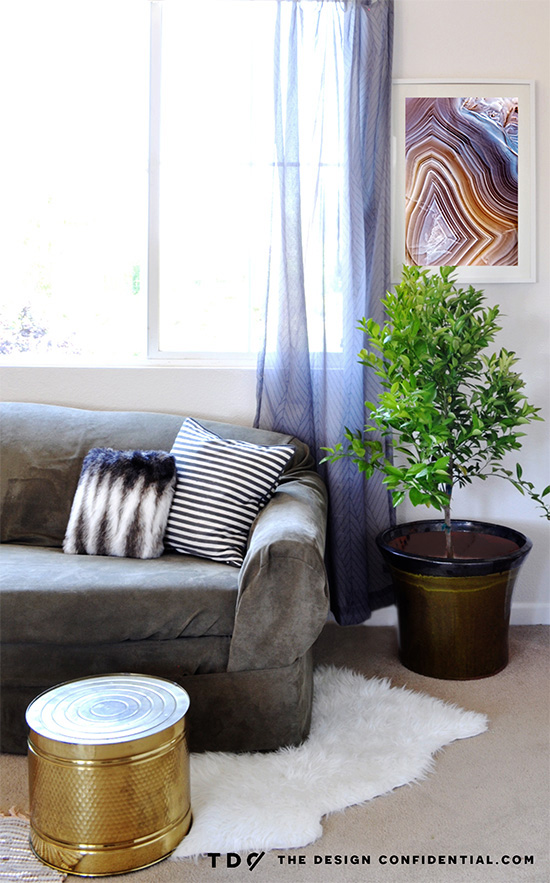 Sitting Area in My Bold and Beachy Master Bedroom Makeover