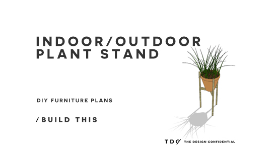 You Can Build This! Easy DIY Furniture Plans from The Design Confidential with Complete Instructions on How to Build an Indoor / Outdoor Plant Stand via @thedesconf