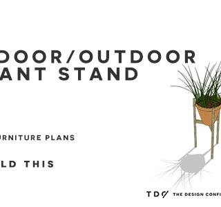 You Can Build This! Easy DIY Furniture Plans from The Design Confidential with Complete Instructions on How to Build a Mid-Century Plant Stand via @thedesconf