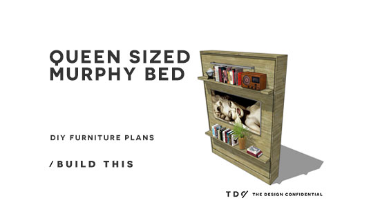 check out this queen sized murphy bed plan when in the closed position this plan looks like a cabinet with 2
