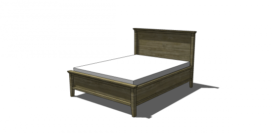 Free DIY Furniture Plans to Build a Farmhouse Bed - The Design ...