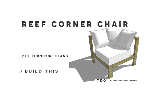 The Design Confidential Free DIY Furniture Plans And How To Build A Reef Sectional  Sofa Corner