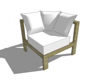 You Can Build This! Easy DIY Furniture Plans from The Design Confidential with Complete Instructions on How to Build a Reef Corner Chair via @thedesconf