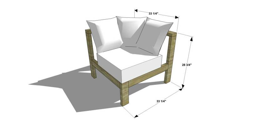 The Design Confidential Free DIY Furniture Plans and How to Build a Reef Sectional Sofa Corner Chair