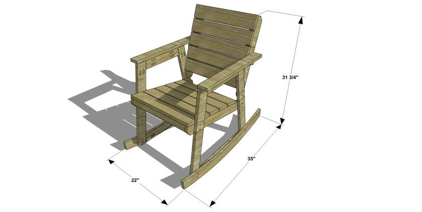 free diy furniture plans how to build a rocking chair the design confidential. Black Bedroom Furniture Sets. Home Design Ideas