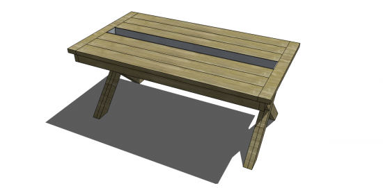 The Design Confidential Free DIY Furniture Plans to Build a Rustic Outdoor Table with Built in Drink Cooler