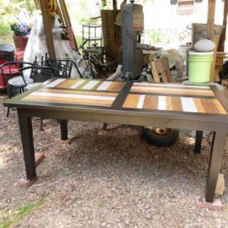 You Can Build This! Real Reader Builds using Easy DIY Furniture Plans from The Design Confidential with Complete Instructions on How to Build a 1900s Boulangerie Dining Table via @thedesconf