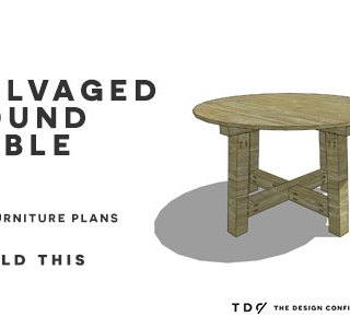 You Can Build This! Easy DIY Furniture Plans from The Design Confidential with Complete Instructions on How to Build a Salvaged Round Table via @thedesconf
