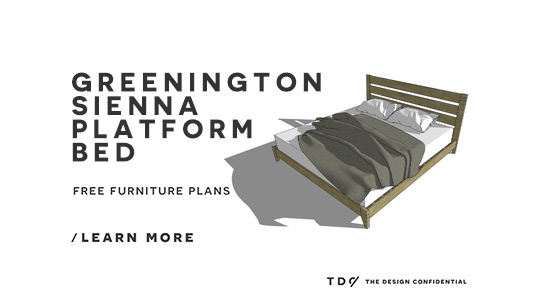 You Can Build This! The Design Confidential Free DIY Furniture Plans // How to Build a Sienna Platform Bed via @TheDesConf