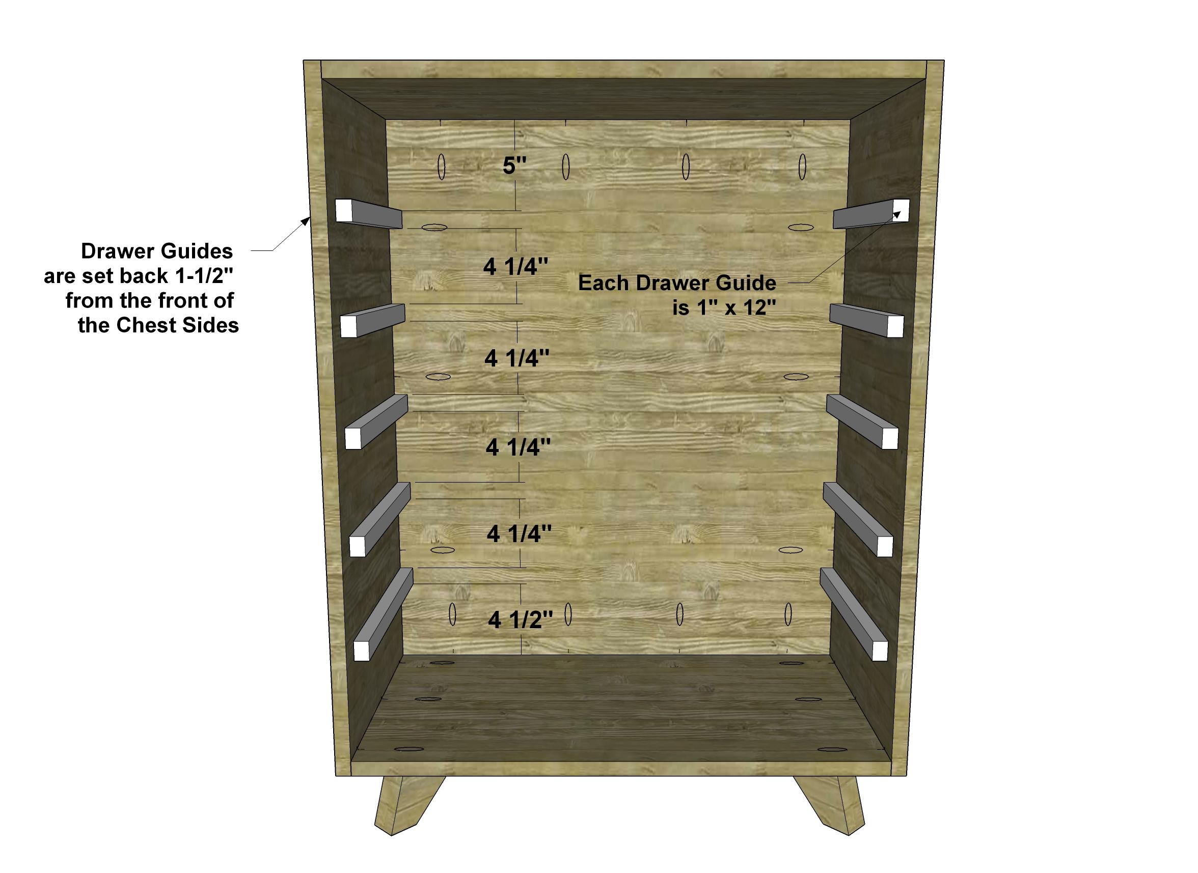 Diy Furniture Plans To Build A Steppe Tallboy Dresser The