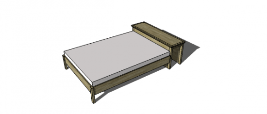 You Can Build This! Easy DIY Plans from The Design Confidential Free DIY Furniture Plans // How to Build A Stuff Your Stuff Storage Full Sized Classic Bed via @thedesconf