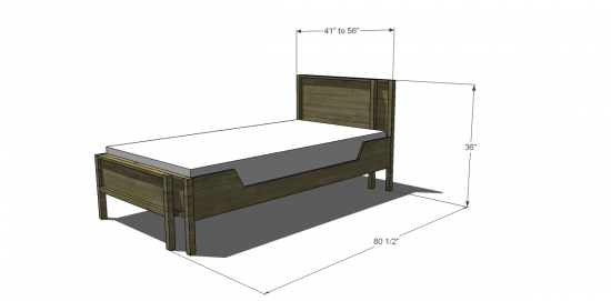 Free DIY Furniture Plans to Build an Adjustable Twin to Full Bed ...