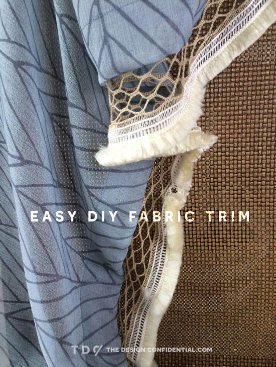 The Design Confidential Easy Inexpensive 5 Minute DIY Fabric Trim