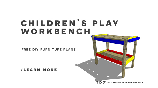 The Design Confidential Free DIY Furniture Plans // How to Build a Children's Play Workbench