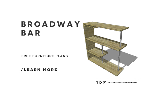 The Design Confidential Free DIY Furniture Plans // How to Build a Broadway Bar