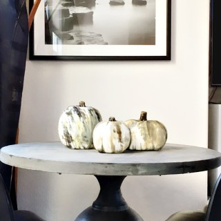 The Design Confidential x Michaels Makers Faux Horn Pumpkin