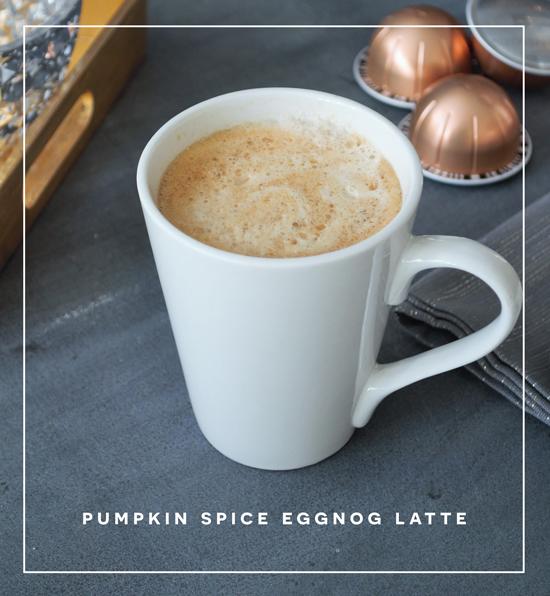 Home for the Holidays // Easy Pumpkin Spice Eggnog Latte Recipe