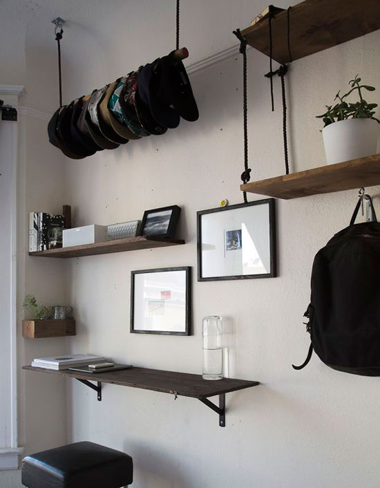 Rope Board and Hook Shelving for The Design Confidential On Display // 5 Stylish Storage Solutions You Can Totally DIY