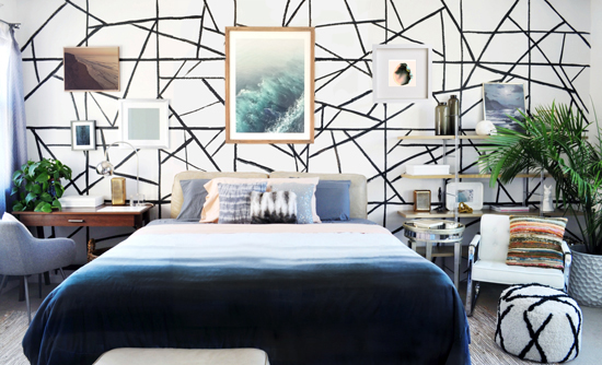 Master Bedroom for The Design Confidential Styling Bookshelves // The Evolution of My Unlikely Nightstand