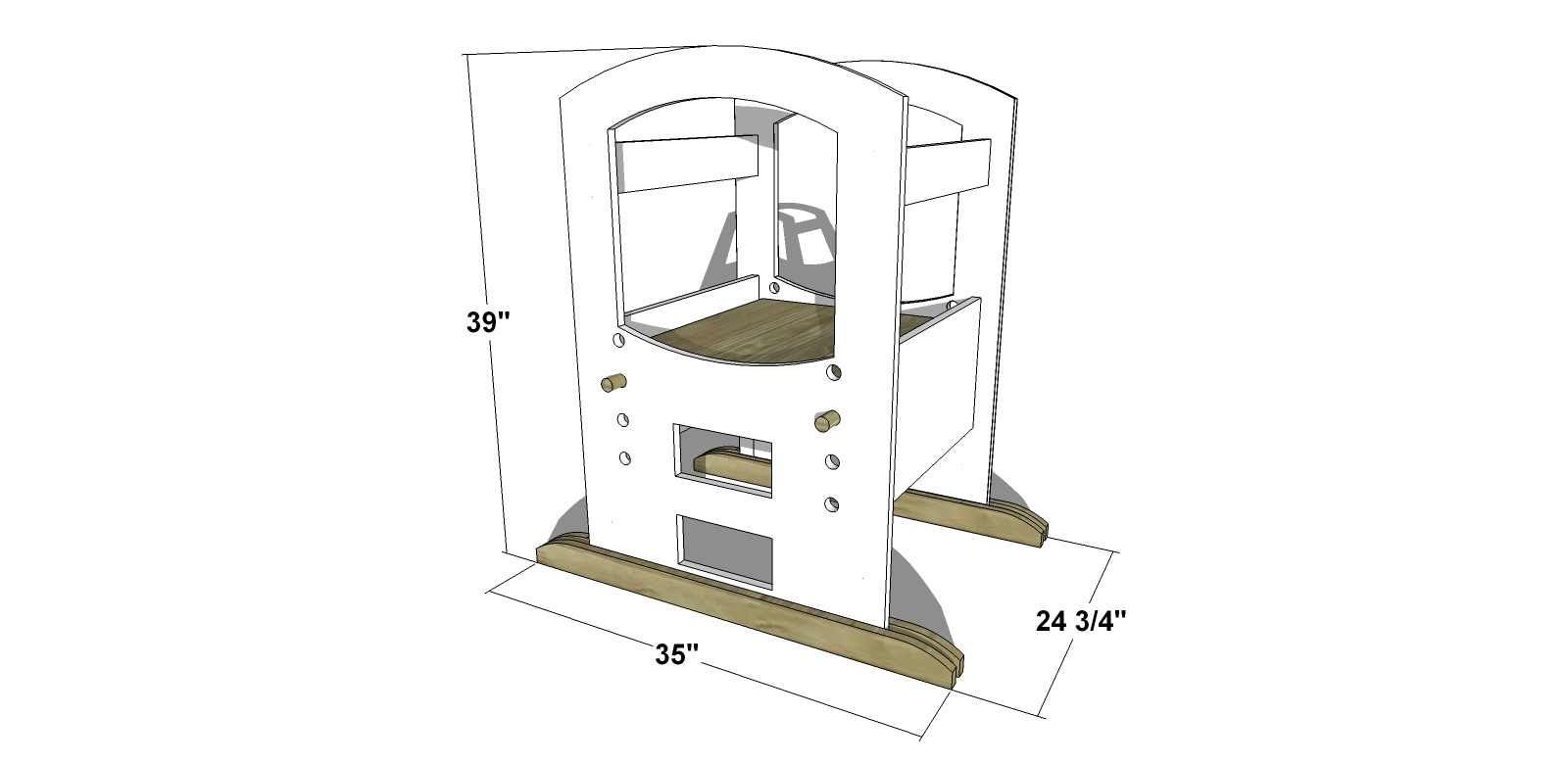 Free Woodworking Plans to Build a Toddler Learning Tower