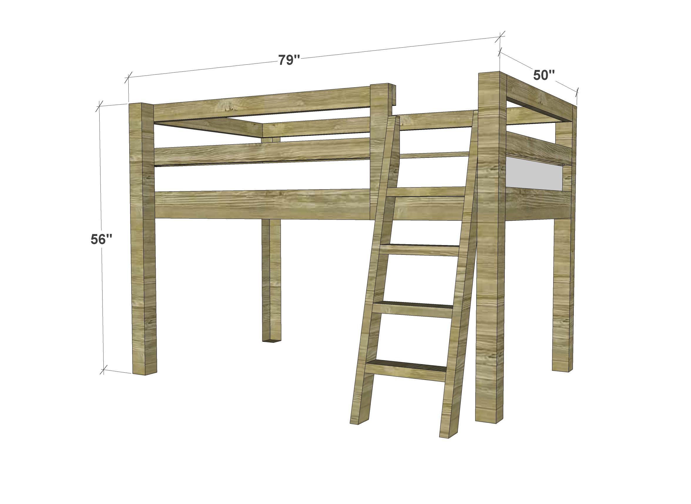 Childrens Loft Bed Plans