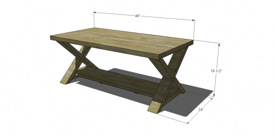 free diy furniture plans to build an x