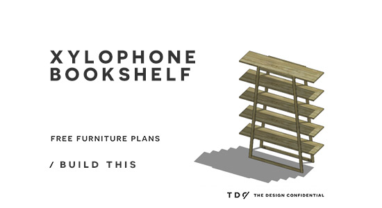 You Can Build This! Easy DIY Furniture Plans from The Design Confidential with Complete Instructions on How to Build a Xylophone Bookshelf via @thedesconf