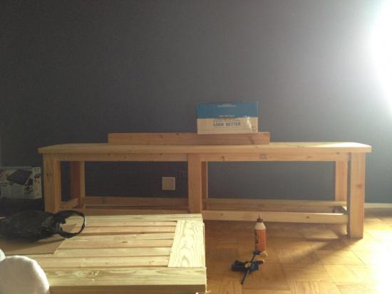 sofa table design plans leather material builders showcase: coffee and entertainment center ...