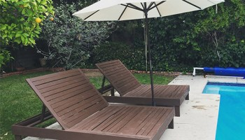 Patio Double Chaise Lounge Pillow
