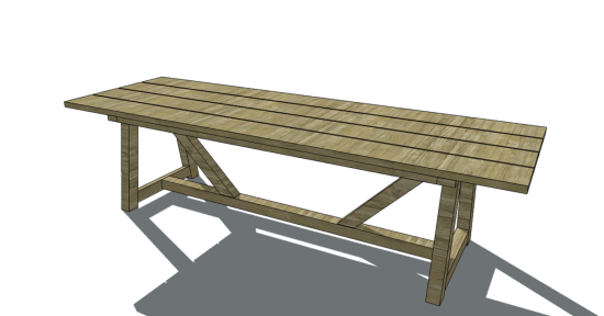 Free Furniture Plans To Build A Restoration Hardware Inspired 10u0027 Provence  Beam Dining Table   The Design Confidential