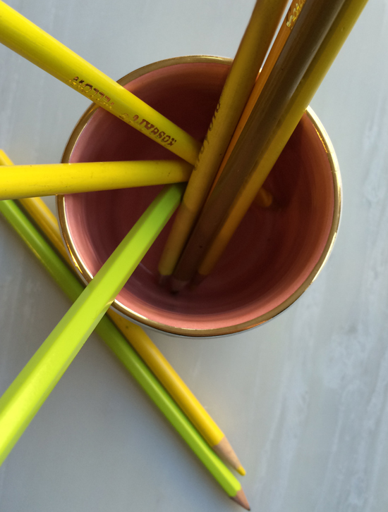 Pencils in Ceramic Decorative Cup for The Design Confidential in Partnership with Great.ly and Styling // Gorgeous Great.ly Gathered Goods