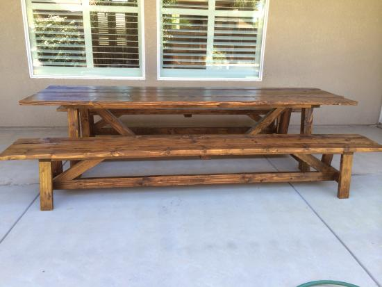 Awesome Reader Showcase Foot Provence Beam Dining Table with Benches