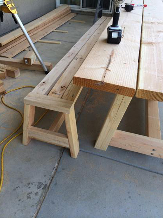 In Progress Shot of Real Reader Build on The Design Confidential / Provence Beam Dining and Provence Benches