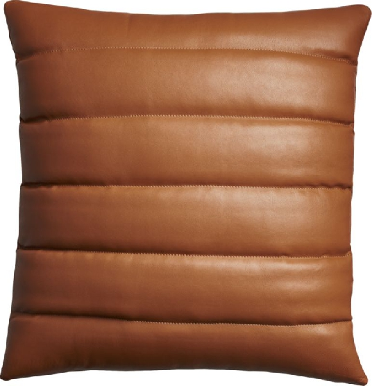 I adore this leather pillow from The Design Confidential Shop via @thedesconf