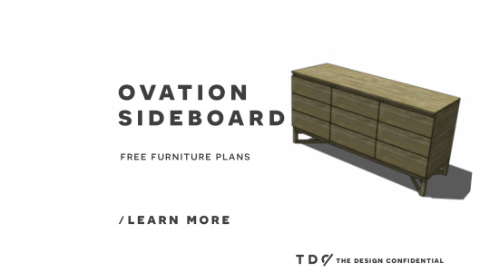 You Can Build This! Easy DIY Furniture Plans from The Design Confidential with Complete Instructions on How to Build an Ovation Sideboard via @thedesconf