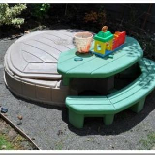 The Design Confidential Sandlot Saga / Installing a Sandbox in the Backyard