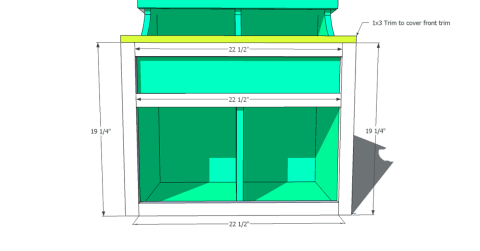 Step 6 for Free Woodworking Plans to Build an Ann Marie Toddler Storage Cubby Desk
