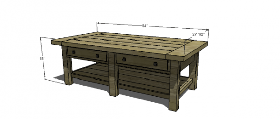 The Design Confidential Free DIY Furniture Plans to Build a Pottery Barn Inspired Benchwright Coffee Table
