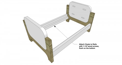 The Design Confidential Furniture Plans to Build a Modern Doll Bed